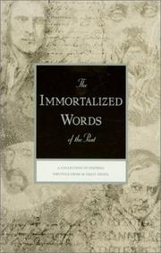 Cover of: The Immortalized Words of the Past (Rosicrucian Library, Vol. 44) (Rosicrucian Library, Vol 44)