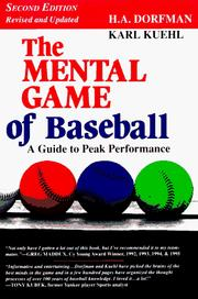 Cover of: The Mental Game of Baseball