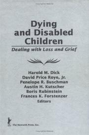 Cover of: Dying and Disabled Children