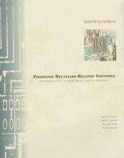 Cover of: Financing Recycling-Related Ventures