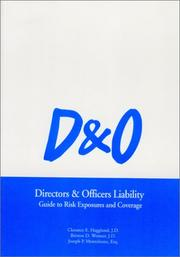 Cover of: Directors & Officers Liability - Guide to Risk Exposures and Coverage