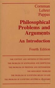Cover of: Philosophical Problems and Arguments