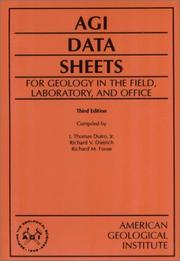 Cover of: AGI Data Sheets
