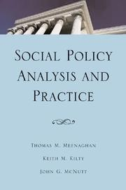 Cover of: Social Policy Analysis and Practice