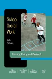 Cover of: School Social Work