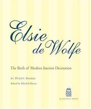 Cover of: Elsie De Wolfe