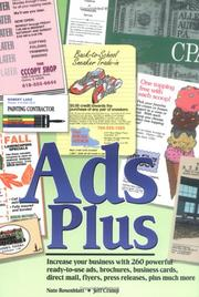 Cover of: Ads Plus