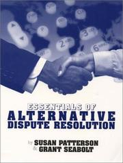 Cover of: Essentials of Alternative Dispute Resolution (2nd Edition)