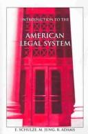 Cover of: Introduction to American Legal System, Seventh Edition