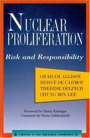 Cover of: Nuclear Proliferation