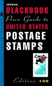 Cover of: The Official Blackbook Price Guide to U.S. Postage Stamps, 26th edition (Official Blackbook Price Guide to United States Postage Stamps)