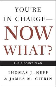 Cover of: You're in Charge, Now What?