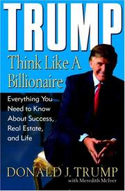 Cover of: Trump: Think Like a Billionaire