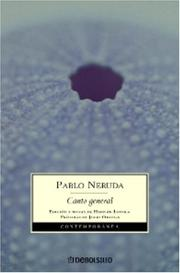 Cover of: Canto general