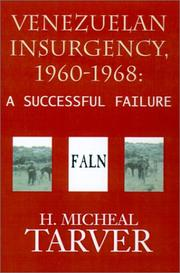 Cover of: Venezuelan Insurgency, 1960-1968