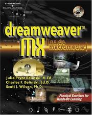 Cover of: Dreamweaver MX (Inside Macromedia) (Inside Macromedia)