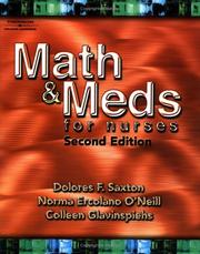 Cover of: Math and Meds for Nurses