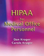 Cover of: HIPAA for Medical Office Personnel