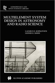 Cover of: Multielement System Design in Astronomy and Radio Science (Astrophysics and Space Science Library)