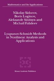 Cover of: Lyapunov-Schmidt Methods in Nonlinear Analysis and Applications (Mathematics and Its Applications)