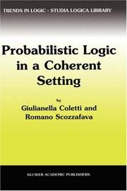 Cover of: Probabilistic Logic in a Coherent Setting (Trends in Logic)