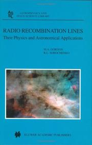 Cover of: Radio Recombination Lines