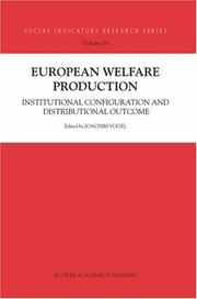 Cover of: European Welfare Production