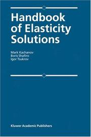 Cover of: Handbook of Elasticity Solutions
