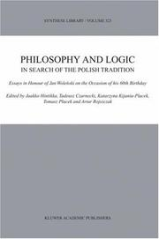 Cover of: Philosophy and logic