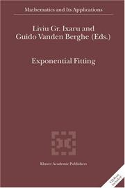 Cover of: Exponential Fitting (Mathematics and Its Applications)