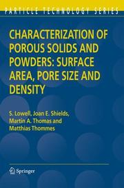 Cover of: Characterization of Porous Solids and Powders