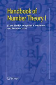Cover of: Handbook of Number Theory I