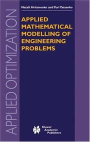 Cover of: Applied Mathematical Modelling of Engineering Problems (Applied Optimization)