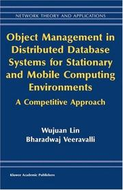 Cover of: Object Management in Distributed Database Systems for Stationary and Mobile Computing