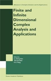 Cover of: Finite or infinite dimensional complex analysis and applications