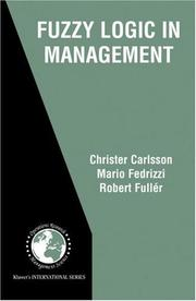 Cover of: Fuzzy Logic in Management (International Series in Operations Research & Management Science)