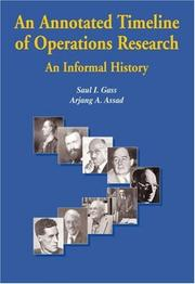 Cover of: An Annotated Timeline of Operations Research