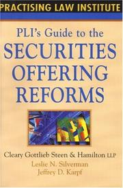 Cover of: PLI's Guide to Securities Offering Reforms