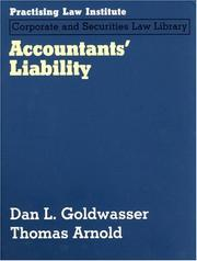 Cover of: Accountants' Liability (PLI Press's Corporate and Securities Law Library) (Corporate and Securities Law Library)
