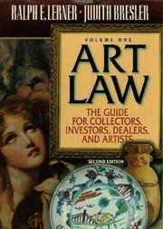 Cover of: Art Law