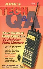 Cover of: The Arrl's Tech Question and Answer
