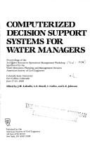 Cover of: Computerized Decision Support Systems for Water Managers