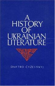 Cover of: History of Ukrainian Literature