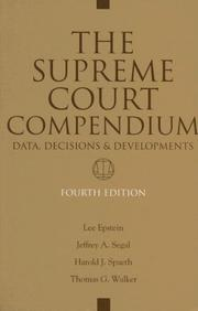 Cover of: The Supreme Court Compendium