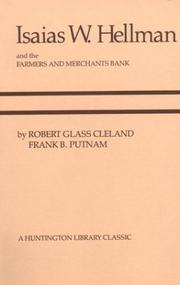 Cover of: Isaias W. Hellman and the Farmers and Merchants Bank