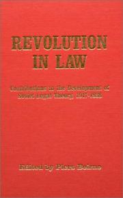 Cover of: Revolution in Law