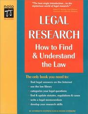 Cover of: Legal Research