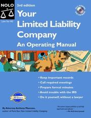 Cover of: Your Limited Liability Company