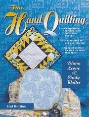 Cover of: Fine Hand Quilting