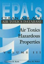 Cover of: EPA'S Clean Air Act Air Toxics Database, Volume III